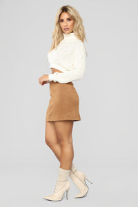 Fall For You Corduroy Skirt - Camel Angle 3