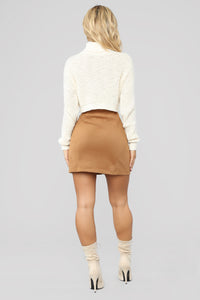 Fall For You Corduroy Skirt - Camel Angle 5