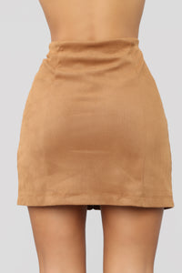 Fall For You Corduroy Skirt - Camel Angle 6