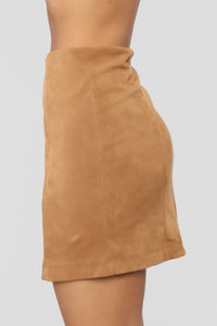 Fall For You Corduroy Skirt - Camel Angle 4