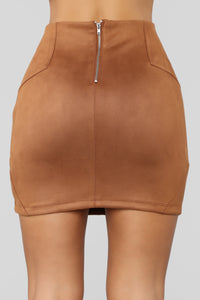 Check Me Out Skirt - Cognac