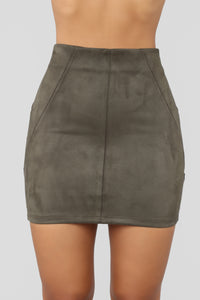 Check Me Out Skirt - Olive
