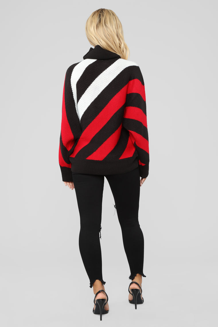 I'll Never Leave Sweater - Red/Multi