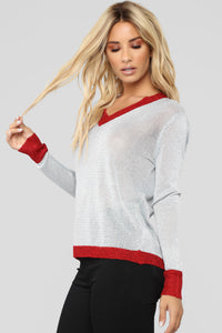 Sparks Flying Sweater - Silver