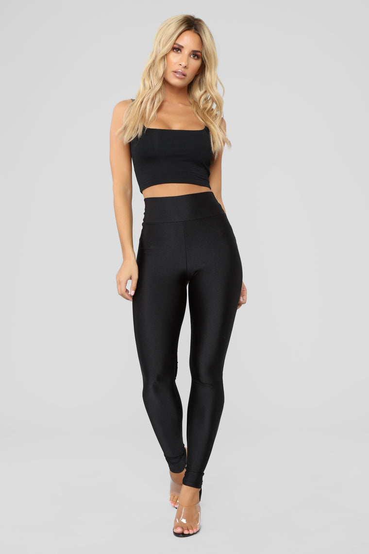 Focus On Me Ruched Leggings - Black