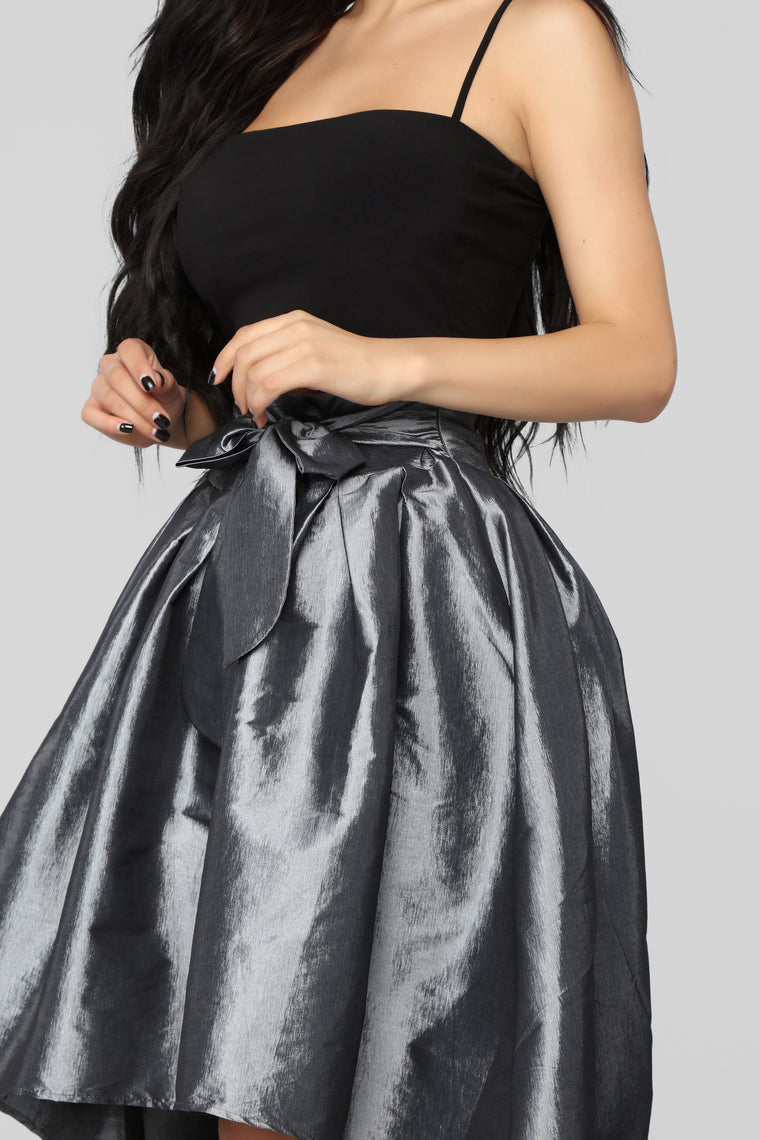 Hold Onto Me Skirt - Silver