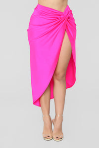 Brighten My Day Skirt Set - Neon Pink