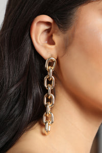 Breaking Chains Earrings - Gold