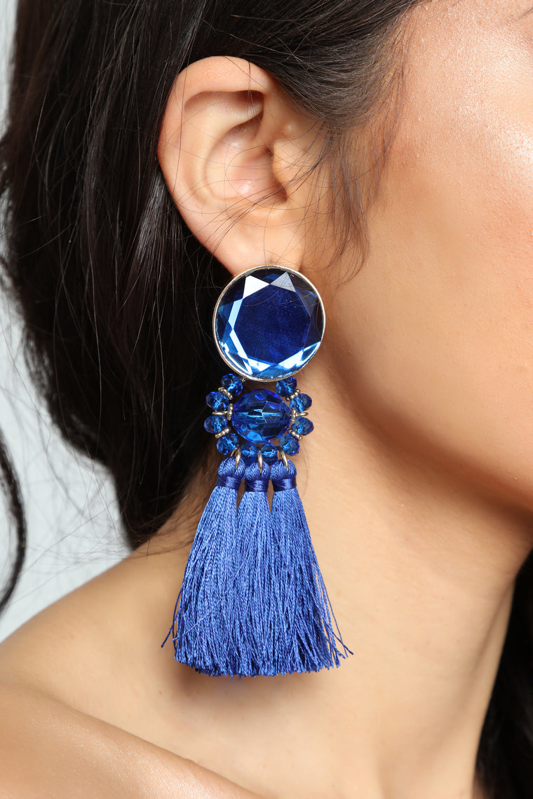 Blingy Earrings - Royal