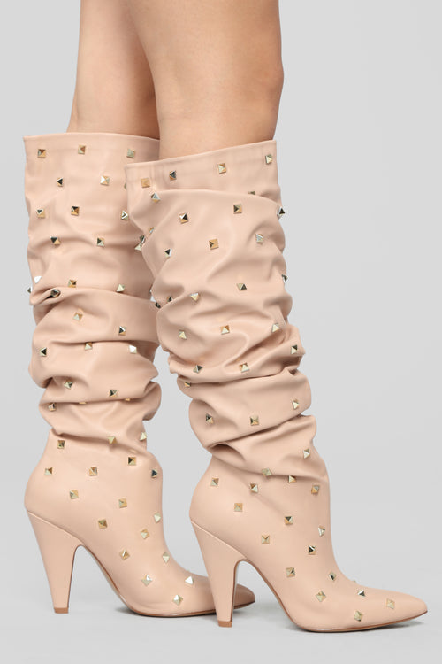 Hello You Heeled Boot - Blush
