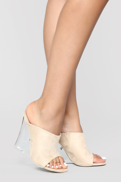 Step To It Heeled Sandal - Nude
