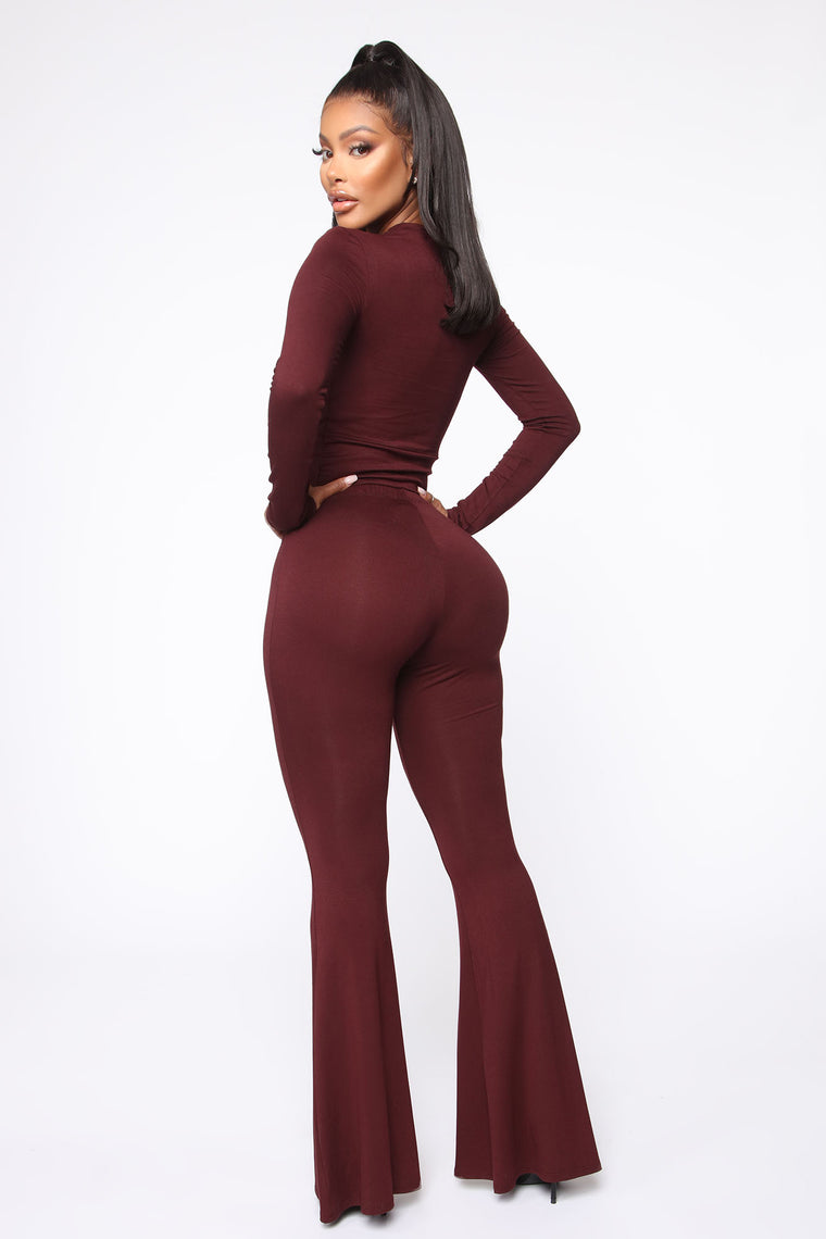 Varvara Pant Set - Wine