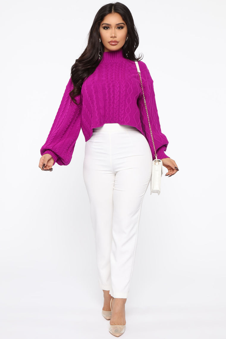 Living For Your Love Sweater - Purple