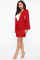 Miranda Boucle Cape Jacket - Red