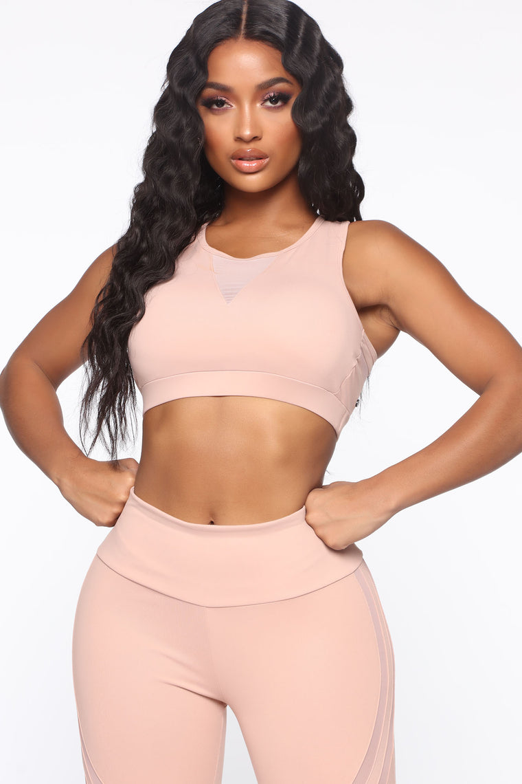 Sugar And Spice Active Sports Bra - Nude