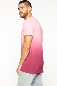 Came Through Dipping Short Sleeve Tee - Burgundy Angle 4