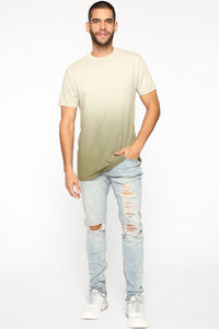 Came Through Dipping Short Sleeve Tee - Olive Angle 2