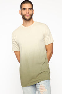 Came Through Dipping Short Sleeve Tee - Olive Angle 1