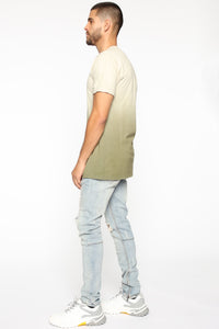Came Through Dipping Short Sleeve Tee - Olive Angle 4