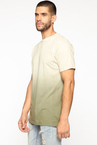 Came Through Dipping Short Sleeve Tee - Olive Angle 3