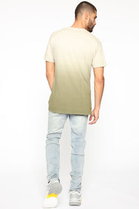 Came Through Dipping Short Sleeve Tee - Olive Angle 5