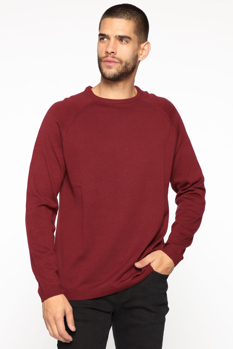 Lennard Pullover Sweater   Burgundy by Fashion Nova