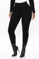 Alessandra Cable Knit Leggings - Black