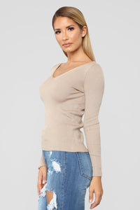 Whenever Ribbed Sweater - Khaki