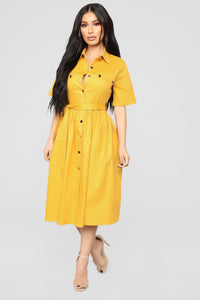 You'll Be In My Heart Dress - Mustard