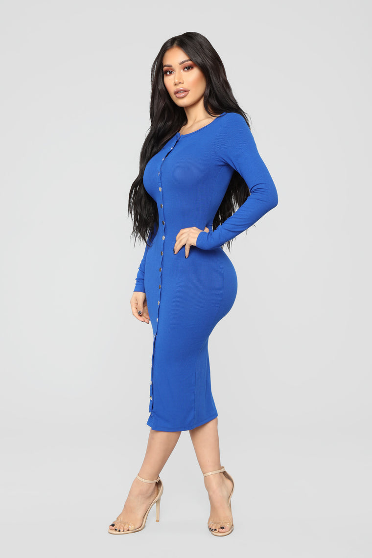 Call It Puppy Love Dress - Royal