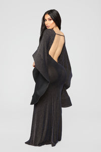 Feeling Intergalactic Maxi Dress - Black