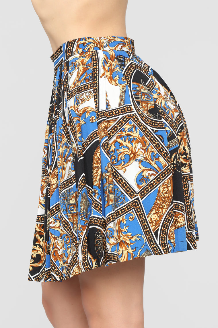 Florence Art  Skirt Set - Royal