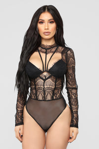 Come Over My Way Bodysuit - Black Angle 1