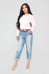 Touch Of Sparkle Sweatshirt - Pink Angle 1
