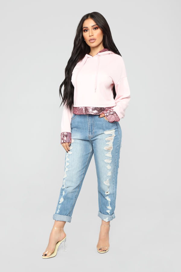 9ce5ba26fb3 Touch Of Sparkle Sweatshirt - Pink