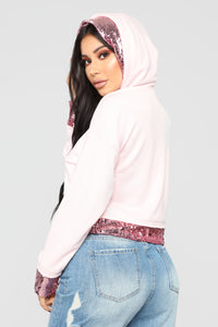 Touch Of Sparkle Sweatshirt - Pink Angle 4