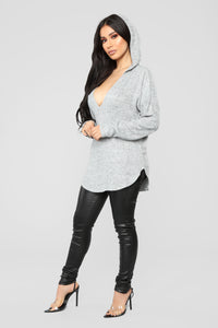 Easy Going Long Sleeve Top - Heather Grey