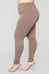 Almost Everyday Leggings - Mocha Angle 10