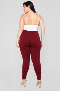 Almost Everyday Leggings - Burgundy