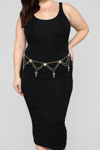 All Inline Belly Chain - Gold