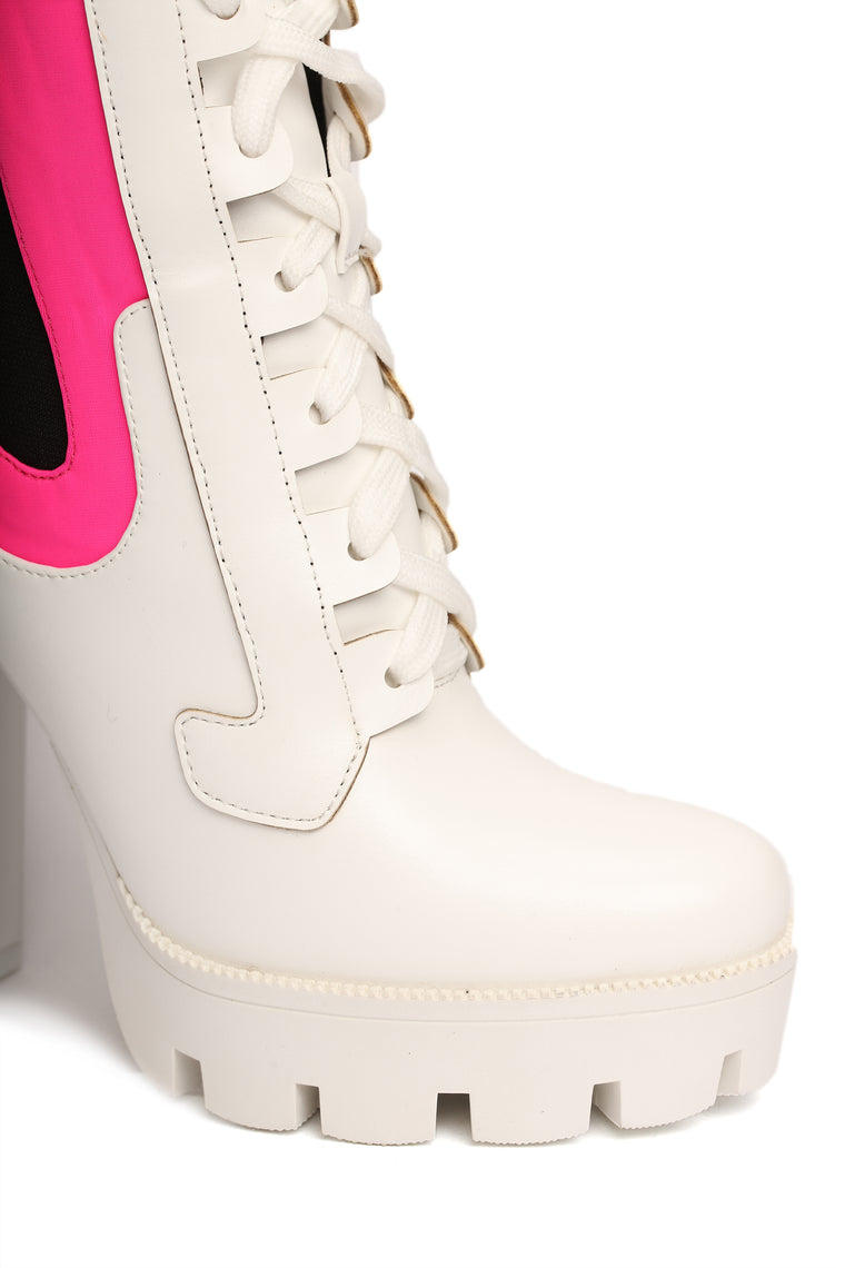 Bet Your Boots Booties - White/Multi