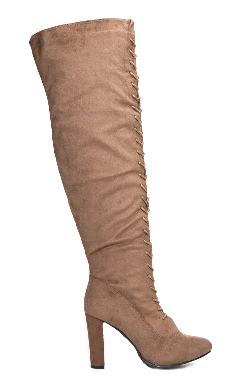 Tieana Boots - Taupe