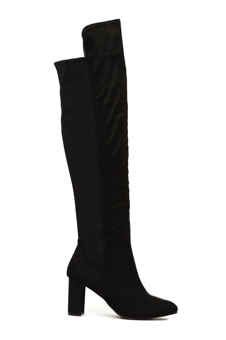 Just A Minute Heeled Boot - Black