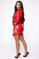 Lookin' Like Money Bag PU Leather Skirt - Red