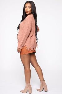 All You Need And More Mini Skirt - Cognac