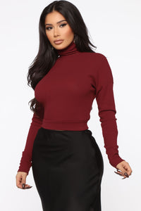 Honestly Sweet Top - Burgundy