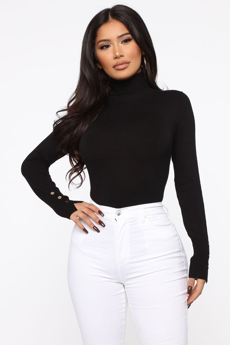Meet Me Somewhere Turtle Neck Sweater   Black by Fashion Nova
