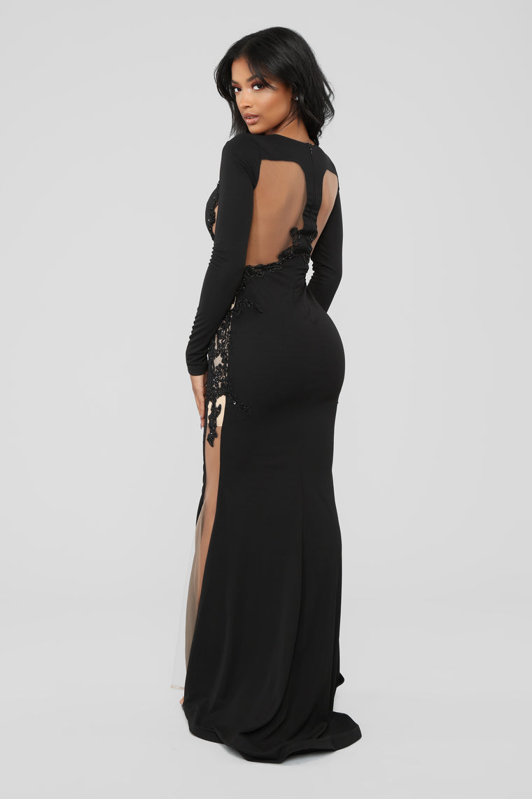 Craving Attention Mermaid Dress - Black