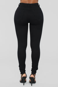 I'm Your Girl High Rise Skinny Jeans - Black