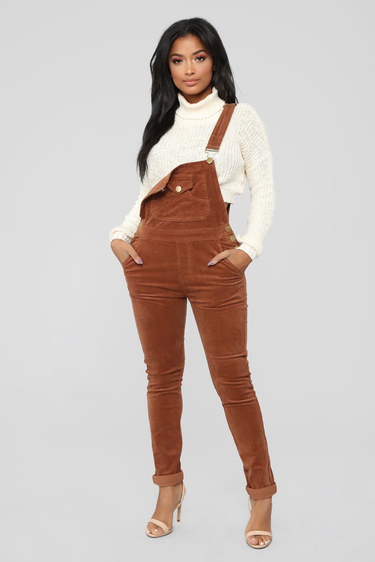 Out For Lunch Overalls - Brown